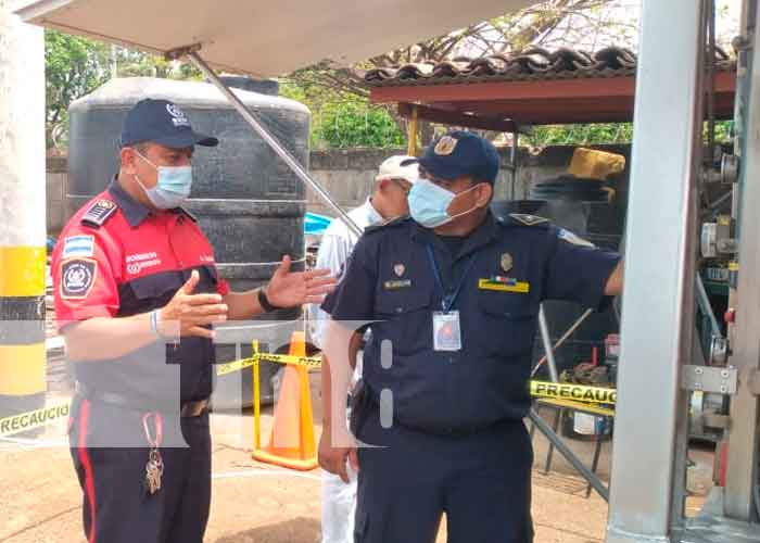 nicaragua, granada, bomberos, capacitación, plantas purificadoras