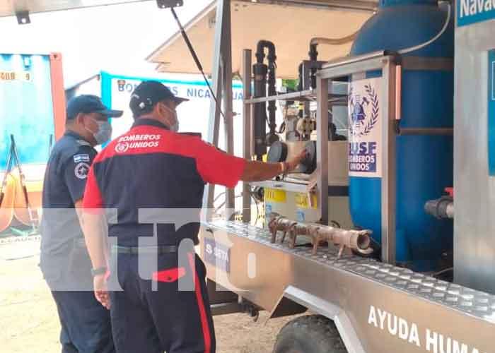 nicaragua, granada, bomberos, plantas purificadoras, capacitación