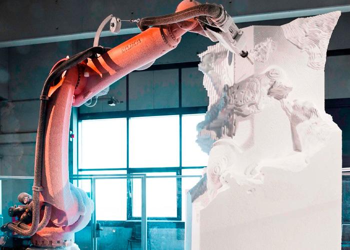robot escultor
