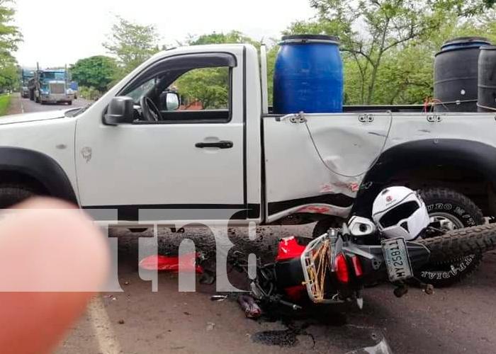 nicaragua, chontales, comalapa, accidente de transito,