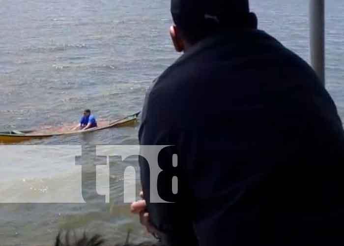 nicaragua, isla de ometepe, hombre rescatado, lago cocibolca,