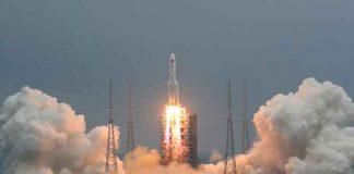 cohete, chino, espacio, tierra, tecnologia,