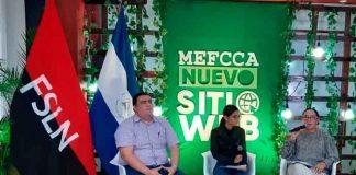 nicaragua, gobierno, mefcca, lanzamiento, nueva pagina web