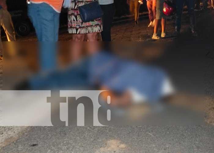 nicaragua, accidente de tránsito, fallecido, motociclista, Malpaisillo,