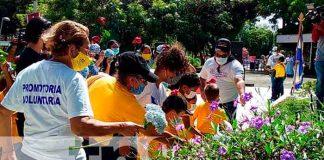 nicaragua, luis alfonso velazquez, flores, 42 aniversario, conmemoracion