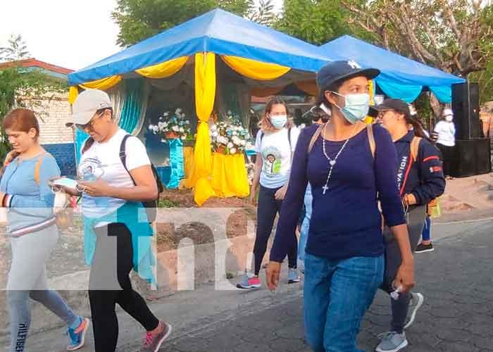 Foto: Feligreses participan en peregrinación del 41 aniversario de la virgen de Cuapa/ TN8