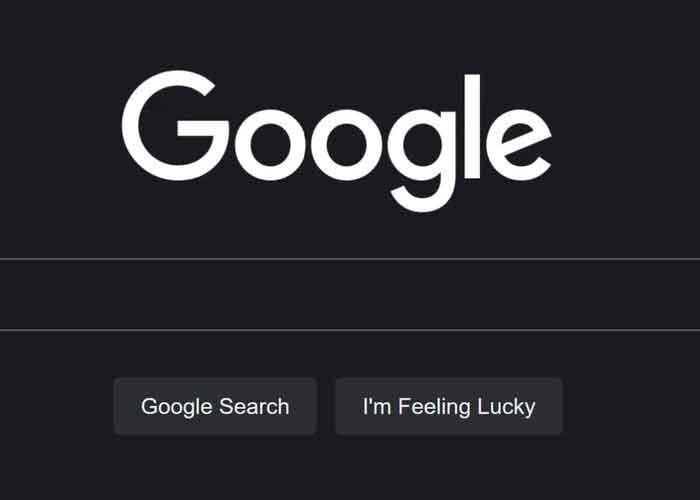 tecnologia, google, modo oscuro, activacion, web