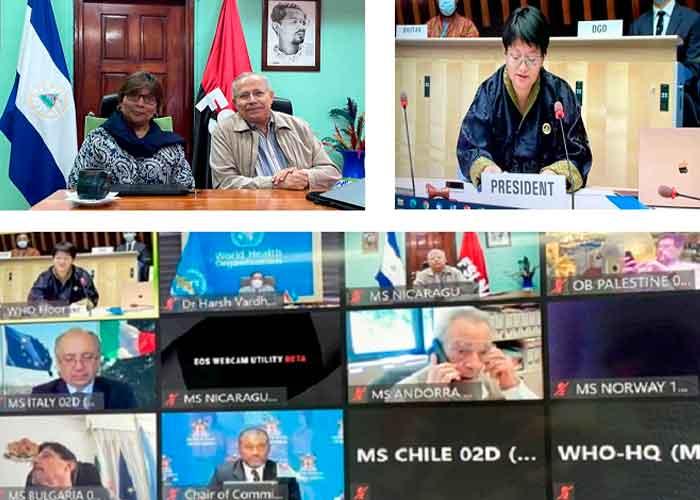 nicaragua, minsa, oms, asamblea mundial de la salud, informe