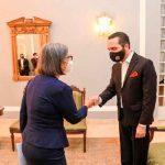 nicaragua, embajadora, el salvador, cartas credenciales