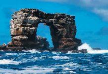 isla galapagos, colapso, arco de darwin, formacion rocosa, causas naturales,