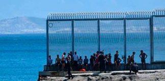 espana, oleada, inmigrantes, marruecos, vigilancia policial, ceuta, autoridades,