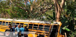 nicaragua, jalapa, choque de bus, lesionados,