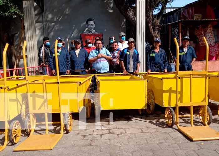 Nicaragua, Masaya, comerciantes, jornada de limpieza,