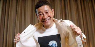 japon, magnate de la moda, visita, estacion espacial, futuro cohete,
