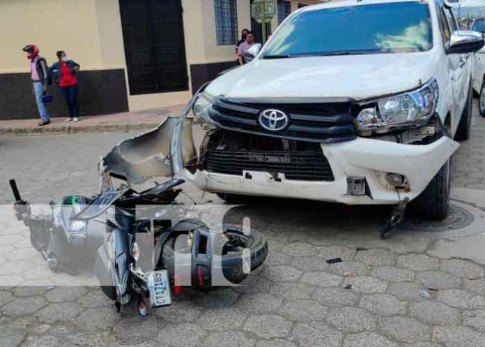 nicaragua, juigalpa, motociclista, accidente vial, policia, cruz roja,