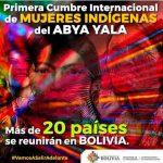 bolivia, cochabamba, gobierno, celebracion, cumbre, mujeres indigenas,