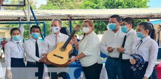 Taiwán, instrumentos musicales, MINED, estudiantes, Nicaragua,