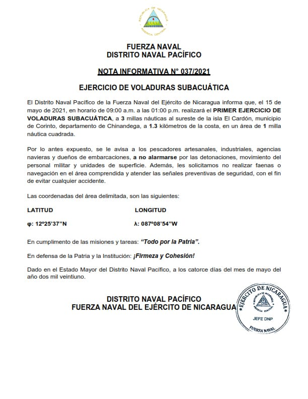 nicaragua, chinandega, fuerza naval,