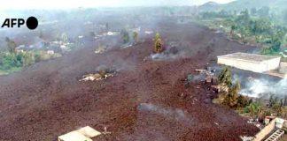 republica democratica del congo, erupcion, volcan Nyiragongo,