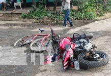 Nicaragua, chontales, una persona lesionada, colisión, motocicleta