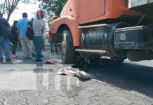 nicaragua, camion, accidente, motociclista, managua,