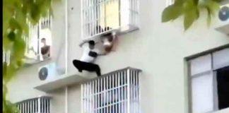 china, accidente, video, rescate, bebe, edificio, viral,