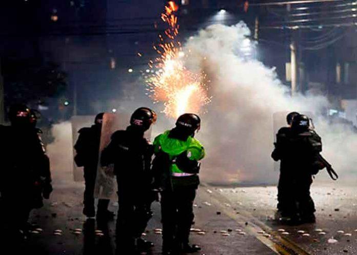Colombia, acciones represivas, Esmad, manifestaciones