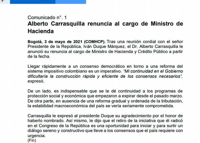 colombia, reforma tributaria, ministro,