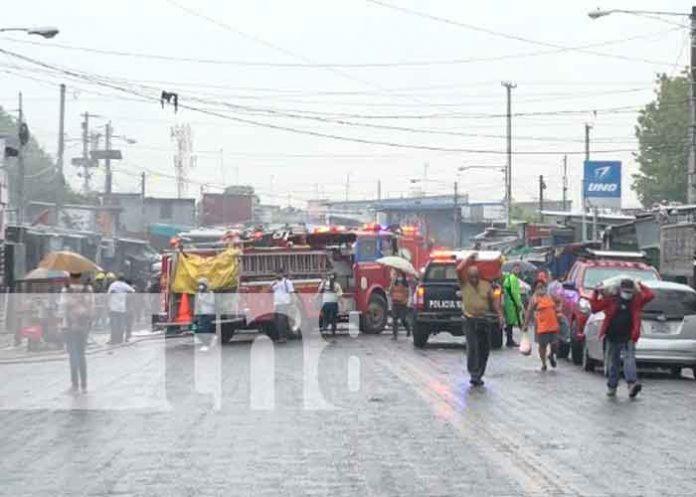 incendio, mercado oriental, nicaragua, autoridades,