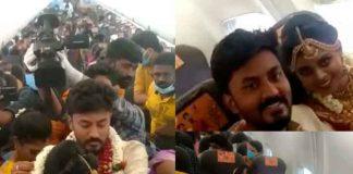 India, Avión, una pareja, casamiento,