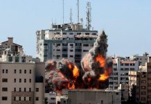israel, bombardeó, agencias de prensa, escombros,