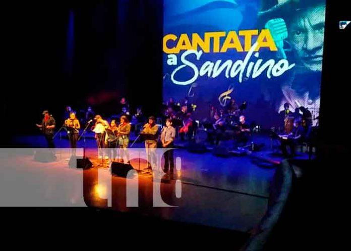 Nicaragua, managua, homenaje , Augusto C. Sandino, cantata,