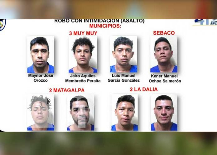 nicaragua, matagalpa, detenidos, delitos, captura,