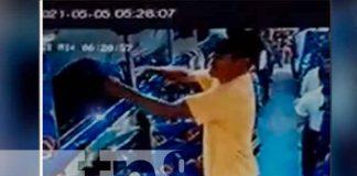 nicaragua, Matagalpa, robo, bus, sujeto, cámara de seguridad,