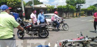 nicaragua, managua, accidente, motociclista, lesiones,