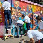 nicaragua, arte, mural, estudiantes, colegios,