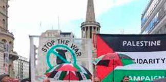 Reino unido, campaña de solidaridad, Palestina, manifestaciones,
