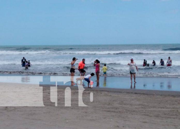 nicaragua, playas, familias