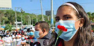 nicaragua, rigoberto lopez perez, ofrenda, conmemoracion, revolucion,