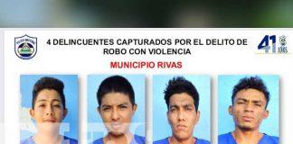 nicaragua, rivas, delitos, captura, policia,
