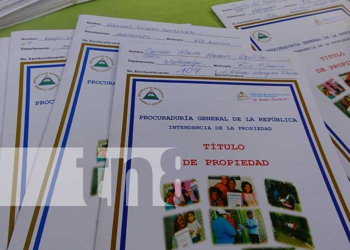 nicaragua, rio blanco, titulos, propiedad, matiguas,