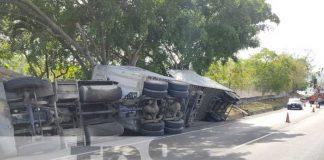 nicaragua, masaya, vuelco, camion, nindiri,