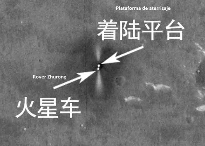 ciencia, marte, rover zhurong, fotos, estudio