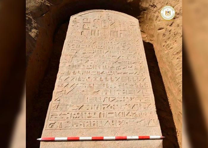 ciencia, jeroglíficos, antigua estela, egipto,