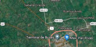 nicaragua, accidente de transito, rivas, fallecido, policia nacional