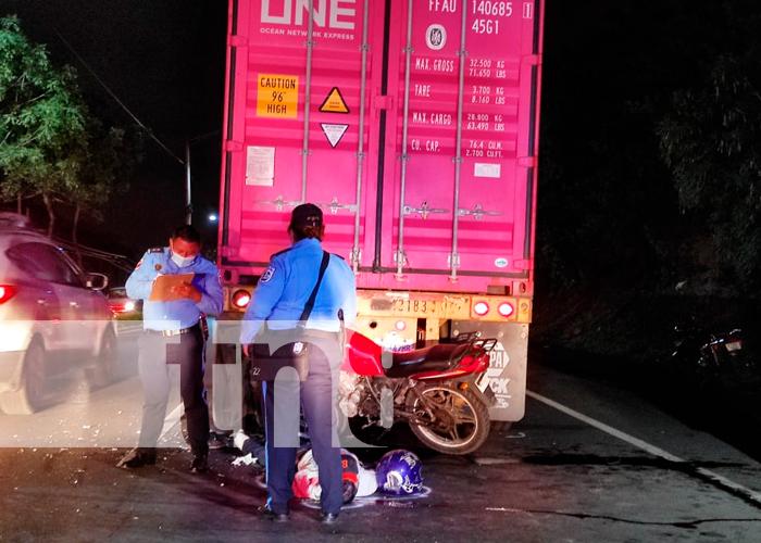 nicaragua, managua, accidente de transito, muerto,