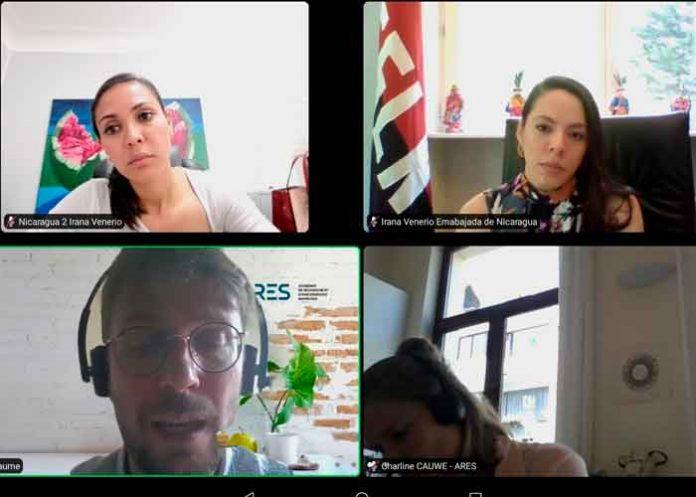 nicaragua, embajada, belgica, reunion, academia de francofona