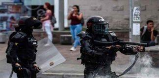 colombia, violencia, policias, manifestantes, registro, casos,