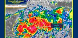 pacifico, formacion, depresion tropical, servicio metereologico, monitoreo,