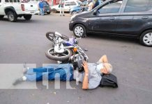 nicaragua, managua, accidente, lesionado, motociclista,